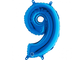 Folieballon 9 blauw 26''