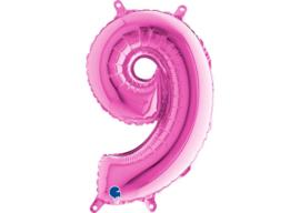 Folieballon 9 fushia 26''