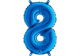 Folieballon 8 blauw 26''