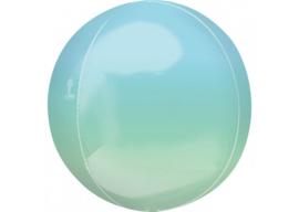 Ombre blauw & groen 16x16''
