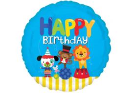 Happy birthday circus 18''