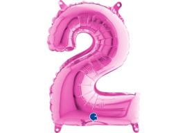Folieballon 2 fushia 26''