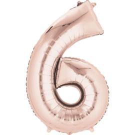 Folieballon 6 rosé 26''