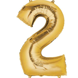 Folieballon 2 goud 26''