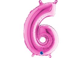 Folieballon 6 fushia 26''