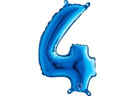 Folieballon 4 blauw 26''