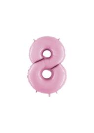 Folieballon 8 pastelroze 14''