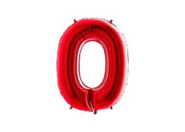 Folieballon 0 rood 26''