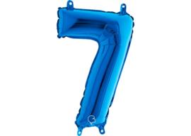 Folieballon 7 blauw 26''