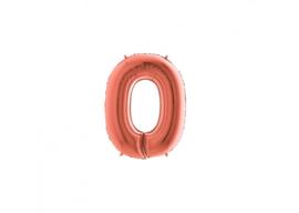 Folieballon 0 rosé 14''