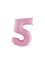 Folieballon 5 pastelroze 14''