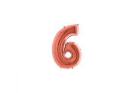 Folieballon 6 rosé 14''