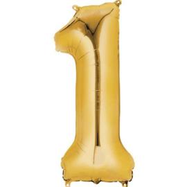 Folieballon 1 goud 26''