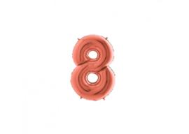 Folieballon 8 rosé 14''