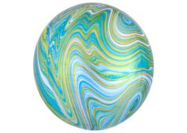 Marble blauw 16x16''