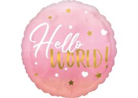 Hello World roze 18''