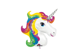 Regenboog unicorn 33''