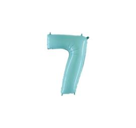 Folieballon 7 pastelblauw 14''