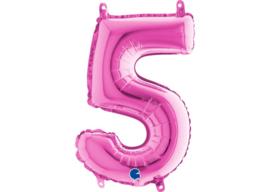 Folieballon 5 fushia 26''