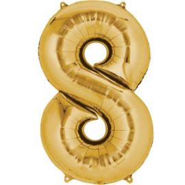 Folieballon 8 goud 26''