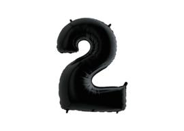Folieballon 2 zwart 26''