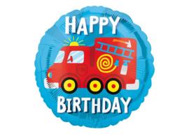 Happy birthday brandweerwagen 18''