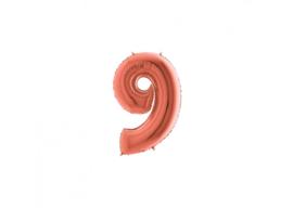 Folieballon 9 rosé 14''