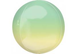 Ombre groen & geel 16x16''