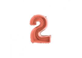 Folieballon 2 rosé 14''