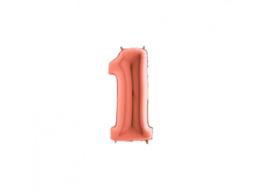Folieballon 1 rosé 14''