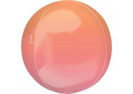 Ombre oranje & roze 16x16''