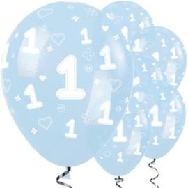 Blauwe ballonnen 1 jaar