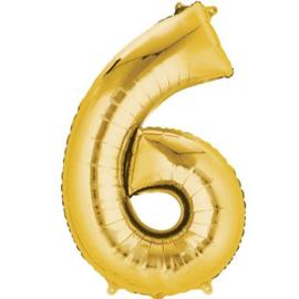 Folieballon 6 goud 26''