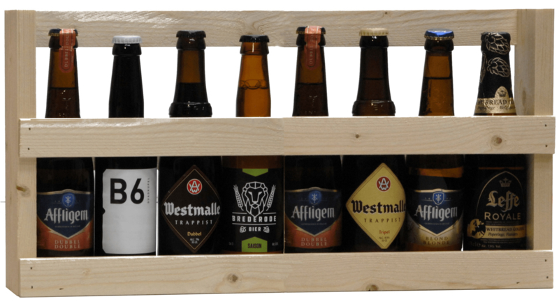 Geschenkverpakking 1/2 meter bier (8 flesjes)