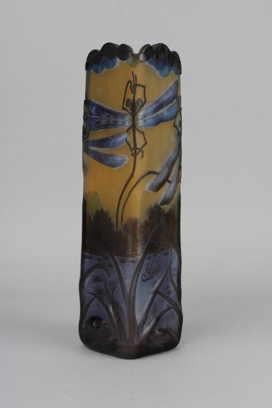 Émille Gallé vaas met libellen