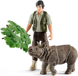 Ranger en neushoorn starterset - Schleich 42428