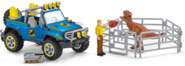 Off-road voertuig met dino wachtpost - Schleich 41464