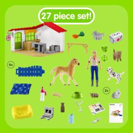 Dierenartspraktijk met huisdieren - Schleich 42502