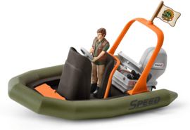 Rubberboot met ranger - Schleich 42352