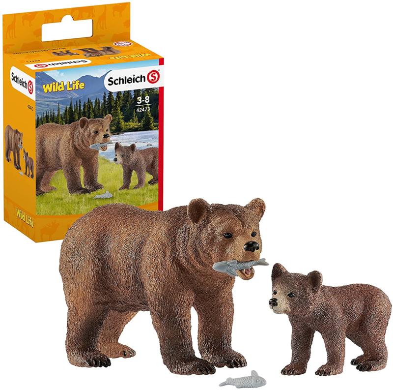 Grizzly beer set met jong - Schleich 42473