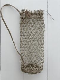 Hanging basket van hennep touw - 50 cm