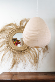 Lampion hanglamp katoen - wit