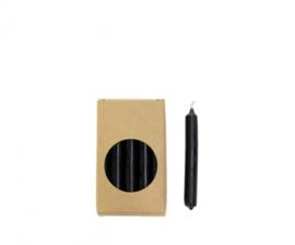 Potloodkaarsjes zwart (20 stuks)
