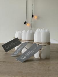 Dinner candles 'Doris' wit (set van 7)