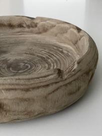 Ronde houten schaal