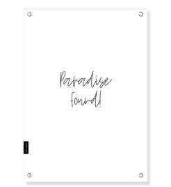 """Tuinposter """"Paradise found"""" 60 x 85 cm"""