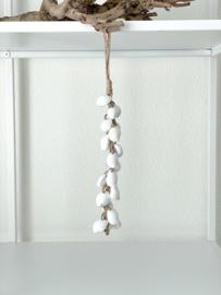 Schelpen tros/hanger wit