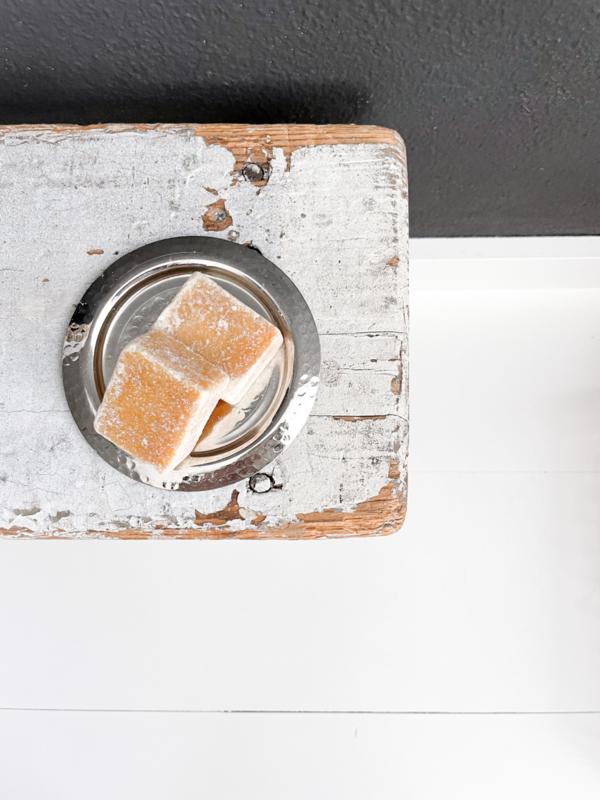 Schaaltje gehamerd, maat M | schaaltje voor amberblokjes