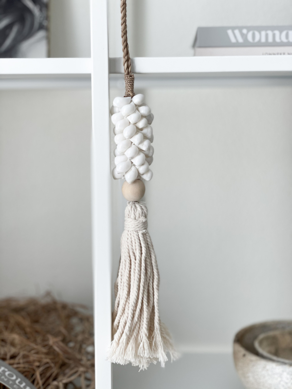 Schelpen hanger lang - naturel