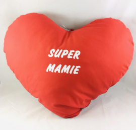 Coussin cœur 60cm «SUPER MAMIE